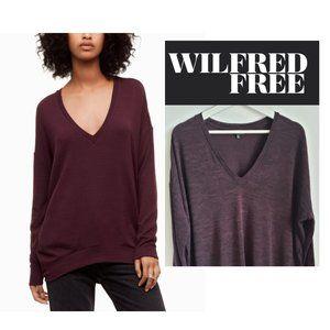 Aritzia Wilfred Free Devinette Purple Sweater M